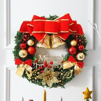 Wholesale christmas tree decorations luxury - New Arrival New Year Christmas Decorations For Home Door and Window Decorations Christmas wreath Luxury Merry Christmas Party