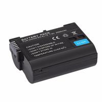 пурпурные шнуры оптовых-Freeshipping 7 в 2550 мАч Безопасный литий-ионный аккумулятор замена аккумулятор подходит для Nikon D7000 D800 D800E
