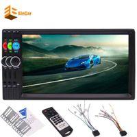 kits de pantalla táctil al por mayor-EinCar 7 '' 2 Din Headunit Stereo MP5 Player HD Bluetooth Radio del coche MP5 Player Capacitive TouchScreen Car kit Bluetooth FM Radio Video