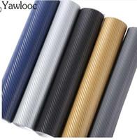 ingrosso fogli di plastica in fibra di carbonio-10 * 152 centimetri 3D in fibra di carbonio vinile auto avvolgere foglio di pellicola a rulli adesivi per auto e decalcomanie accessori per lo styling auto moto automobili