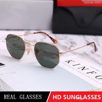 6ce9427ded1 Polygon Brand Sunglasses 3548 Hexagonal Metal Sun Glasses irregular  Hexagonal personality Fashion flat Sunglasses 8 colors pink mercury silv