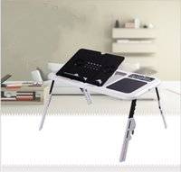 Wholesale Bracket Multi Function Laptop Table With Usb Fan Heat Dissipation Adjustable Minimalism Furniture Fold Tray Desk High hardness wy jj