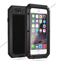 iphone yağmurunu örtün toptan satış-Yeni Varış Lüks Doom Zırh Darbeye Dropproof Yağmur Su Geçirmez Metal Kasa iphone 7/8 7 s / 8 s Gorilla Glass ile Alüminyum Kapak