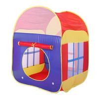 piscinas plegables al por mayor-1 unids Baby Play Tent Toys Plegable Ocean Ball Pool Game House Carpa Inflable Portátil Piscina Plegable Niños Deportes Al Aire Libre PNLO