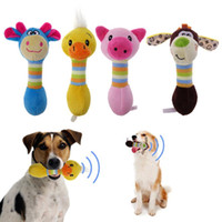 ingrosso giocattoli animali-Cute Pet Dog Toys Masticazione Squeaker Animali Pet Toys Peluche Puppy Honking Scoiattolo per cani Cat Chew Squeak Toy Dog Goods