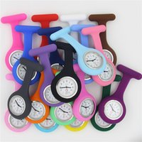 Wholesale nursing medical watch clip for sale - Group buy Nurse Medical watch Silicone Clip Pocket Watches Fashion Nurse Brooch Fob Tunic Cover Doctor silicone Quartz watches NW024