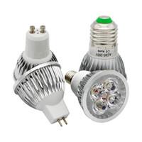mr16 led bombillas calientes al por mayor-Proyector regulable 9w 12w 15w LED E27 E14 GU10 AC85-265V MR16 AC DC 12V LED Bombilla Lámpara de alta potencia blanca / Blanco cálido