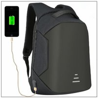 Wholesale anti theft laptop for sale - 4 Colors USB Charge Backpack Anti theft Backpack Inch Laptop Backpacks Unisex Waterproof Backpacks Computer Bags CCA9950