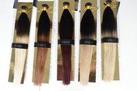 ombre i stick extensões de cabelo venda por atacado-XCSUNNY 100% Malaio Remy Humano Eu Dedo Extensões de Cabelo 18
