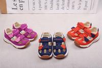 sandalia hembra macho al por mayor-Sandalias para bebés de 1 a 3 años antideslizantes con función de fondo suave para bebés, zapatos para niños pequeños Baotou, niñas, verano, transpirable