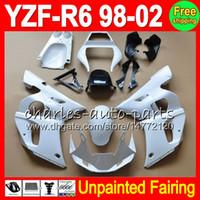 Wholesale 99 r6 body kit resale online - 8Gifts Unpainted Full Fairing Kit For YAMAHA YZF R6 YZFR6 YZF600 YZF R6 Fairings Bodywork Body