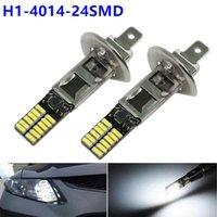 luces led de alta potencia al por mayor-2X de alta potencia 6500K blanco 24 SMD H1 LED bombillas de repuesto para la luz de niebla coche Daytime Running lámpara de conducción del vehículo Auto DRL