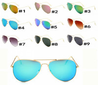 Wholesale bicycle sales resale online - summer women FASHION metal Dazzle colour Sunglasses Driving glass cycling glasses men Bicycle Glass driving Sun glasses COLORS hot sale