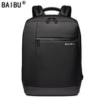 Wholesale waterproof laptop rucksack backpack for sale - BAIBU Brand Laptop Backpack Men s Travel Bags Multifunction Rucksack Waterproof Oxford Black Computer Backpacks For Teenage