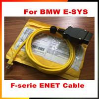 obd2 usb kablosu bmw toptan satış-Yüksek Performanslı ESYS 3.23.4 V50.3 Veri Kablosu bmw ENET Ethernet için OBD2 Arayüzü E-SYS ICOM Kodlama Kablosu F-serie için