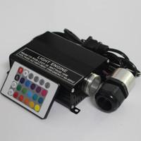 luzes de teto estrela de fibra óptica venda por atacado-Motorista de motor das luzes de teto da estrela da fibra óptica do diodo emissor de luz de 16W RGB + 24Key IR remoto