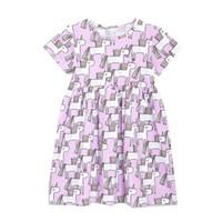 15f9747d7a10 New Boutique Unicorn Girl Dresses Kids clothing Wholesale Short sleeve  Purple Cotton 2019 Summer 18M-6T
