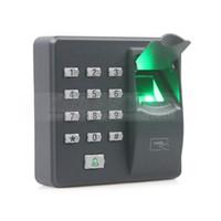 leitor de código de porta venda por atacado-DIYSECUR Biométrico de Impressão Digital de Controle de Acesso Da Máquina Digital Elétrica RFID Leitor de Código de Senha Sistema de Teclado para Fechadura Da Porta