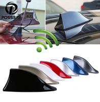 antena para toyota al por mayor-Antena de aleta de tiburón para automóvil Antenas de señal de radio automática Antenas de techo para BMW / Honda / Toyota / Hyundai / VW / Kia / Nissan Car Styling (al por menor)