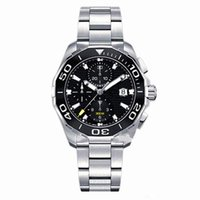 Wholesale japanese quartz chronograph movements - Top AAA Luxury Watch Men's Chronograph Watch Stainless Steel Japanese Quartz Movement Sports Mens Watches Wristwatch