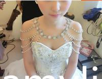 accesorios para el cabello conjuntos para bodas al por mayor-Joyería nupcial hombro cadena taladro hombro joyería collar perla multicapa estilo coreano