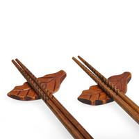 Wholesale japanese art styles for sale - Group buy Chopsticks Holder Japanese Style Wood Stand Holder Leaf Shape Chopsticks Rest Rack Art Craft