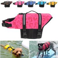 кошки купальники оптовых-Хэллоуин Рождество Pet Aquatic Светоотражающие Preserver Поплавок Vest Dog Cat Saver Одежда Куртка безопасности для серфинга плавания Vest Swimwear
