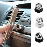 rotação do ímã venda por atacado-1 pcs universal magnetic suporte do telefone do carro de 360 graus de rotação gps ímã do telefone móvel montar suporte do carro suporte para iphone samsung