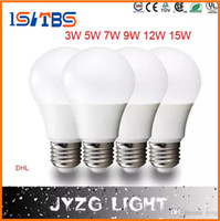 Wholesale E27 5w Bulb - Super bright E27 LED lamp 3W 5W 7W 9W 12W 15W 360 angle SMD LED Bulb Led Ball steep light