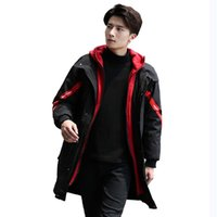 coreano moda masculina jaqueta venda por atacado-Coreano Mens Inverno Parkas Grosso Quente Parka Inverno Homme longo capô Casacos Moda Masculina Casual Jacket Man solta Overcoat Fria