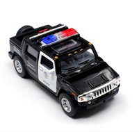 Wholesale Can Scale - 1:36 scale alloy pull back Hummer H2 car model diecast metal model toys 2 door can open toy suv children's gift