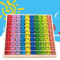 Wholesale wood toy patterns - Double Side Pattern Printed Art Puzzle Early Childhood Ten By Ten Multiplication Table Children Intelligence Wooden Toy 15 8bm W