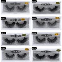 3d kirpik gözlüğü toptan satış-20 stil 3d Vizon Saç Sahte Kirpik 100% Kalın gerçek vizon SAÇ yanlış kirpik doğal Uzatma sahte Kirpikler DHL ücretsiz kargo