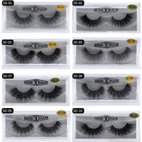 Wholesale eyelashes dhl resale online - 20style d Mink Hair Fake Eyelash Thick real mink HAIR false eyelashes natural Extension fake Eyelashes DHL