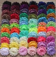 Wholesale hair clothes for girls for sale - Group buy 30y quot chiffon shabby flowers for baby hair accessories chiffon frayed flower for girls hair headband hair clip clothing accessories