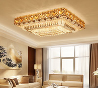 chandelier lobby k9 UK - LED crystal chandeliers modern fancy rectangle high class K9 crystal chandelier hotel lobby villa led pendant chandeliers with free bulbs LF