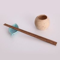 chinese style tableware 2018 - Wenge Wood Chinese Chopsticks Wooden Japanese Style Gift For Tableware Free Customized Engraving Gift Set ZA6016