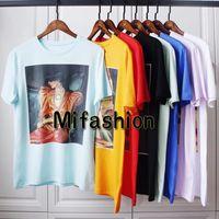 Wholesale Girls Print Shirt - 2018 Europe Italy Vintage Artist Collaboration Luxury Ignasi Monreal hallucination Girls Sphinx Tigerl Painting Tee Cotton T shirt tshirt