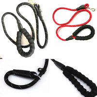 Wholesale reflective led for sale - Adjustable Loop Dog leadhes Slip Lead Rope Pet Reflective Stripe with Sponge leash rope m length cm diameter FFA286 COLORS
