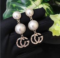 4d53cd1580f0 Nueva Europa y América Swarovski rhinestone cristal perla letra G pendientes  pendientes largos pendientes mujer 02