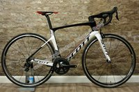 ruedas ud al por mayor-UD Glossy White-Black SCOTT Foil bicicleta completa con 5800 grupos de ruedas de carbono de 50 mm con 23 mm de ancho Novatec A271 Hubs Envío gratuito
