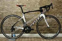 bisikletler toptan satış-UD Parlak Beyaz-Siyah SCOTT Folyo tam bisiklet 5800 groupset ile komple 50mm karbon jantlar ile 23mm genişlik Novatec A271 Hub Ücretsiz shiping