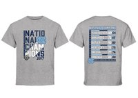 t-shirts groß großhandel-NCAA North Carolina T-SHIRT 2017 Männer Basketball National Champions Große Große Loma T-Shirt