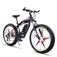 дешевые королевские синие пkers for windows оптовых-Пользовательские 26 дюймов Ebike электрический горный велосипед жира 4.0 пытается снег пляжный велосипед внедорожный 5-спицевый колесо 48 В 750 Вт высокоскоростной двигатель MTB