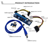 Wholesale 2018 Pin Molex pin Pin Sata Power PCI E X to X Riser Card Minner riser adapter with p p p power Minning riser Card OTH815