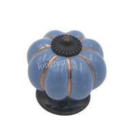 дверная ручка керамическая оптовых-Элегантный королевский синий подгонянный цвет керамический шкаф ящик дверная ручка высокое качество прочный кухня дверная ручка