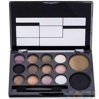 Wholesale warm brown eyeshadow palette online - 14 Colors Makeup Shimmer Eyeshadow Palette Cosmetic Neutral Nude Warm Eye Shadow