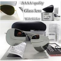 tasarımcı güneş gözlüğü 62mm toptan satış-En Kaliteli G15 Cam Lens Erkekler Kadınlar Polit Lüks Gözlük Güneş Gözlüğü UV400 Koruma Marka Tasarımcısı Vintage 58 MM 62 MM Güneş Gözlükleri Vaka Kutusu