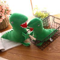 Wholesale dinosaur plush - 30cm 12inch Green Dinosaur plush Doll toys 2018 new cartoon Stuffed Animals Dolls Kids Toy Novelty Items AAA487