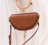 Wholesale ring shoulder resale online - high quality Hot Sale Fashion Bags HighEnd Style Bracelet Ring Circle Hoof Strap Corssbody Flap Bag